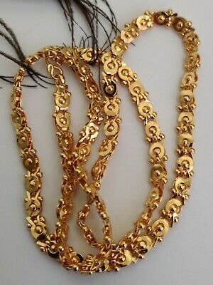 necklace party wear kapa indian jewelry Real looking 22 ct gold plated Chain