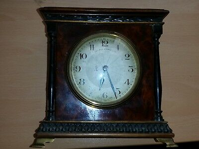 Walker and Hall Walnut Mantle Clock c 1900-1920