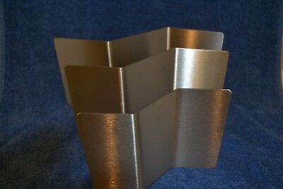 Stainless  grade 304 Zig zag slumping kiln Mould set of 3 bend it no stand
