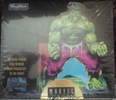 marvel masterpieces trading cards - sealed box 1992 ltd edt