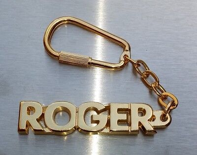 Classy Key Ring Roger Gold-Plated Christmas Gift