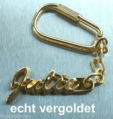 Classy Key Ring Julie Gold Plated Gold Name Keychain Christmas Gift