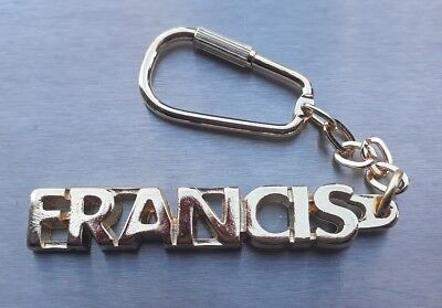 Classy Key Ring Francis Gold-Plated Gold Name Keychain Christmas Gift