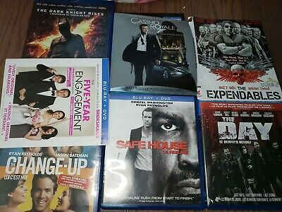 Blu ray lot movies 007 batman safe house change up the day 5 yr eng expendables