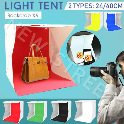 2Types LED Light Tent 6x Backdrop Photo Studio Lighting Room Cube Box Background