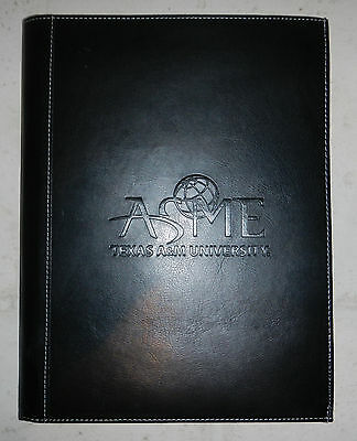 Texas A&M ASME American Society of Mechanical Engineers Binder Padfolio Notebook