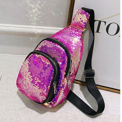 1pc Chest Pack Cool Fashion Sequined Wonderful Glitter Chest Pack for Girl Women