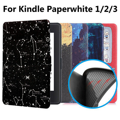 Smart Case Leather Cover Protective Shell For Amazon Kindle Paperwhite 1/2/3