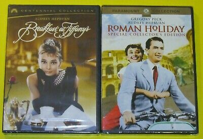 Audrey Hepburn DVD Lot - Breakfast at Tiffany's (New) Roman Holiday (New)