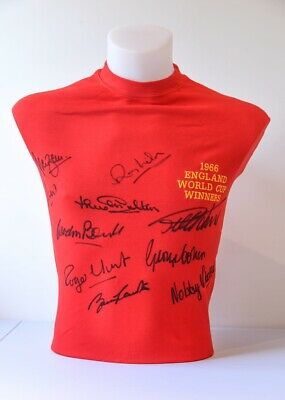 1966 World Cup Winners Shirt Signed By 10 From Their Agent £399 Or Try An Offer