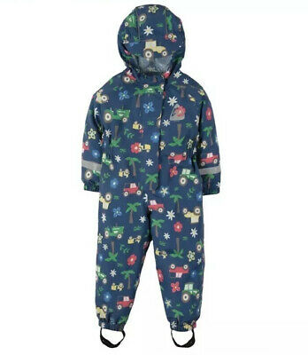 Frugi Blue Tractors Puddle Buster Suit 2-3 BNWT