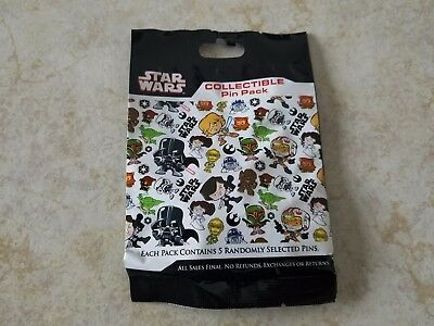 Disney Trading Pins Lot of 5 Collectible Pin Pack New Star Wars Cute Character