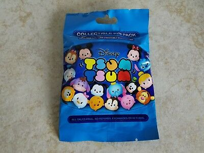 Disney Trading Pins Lot of 5 Collectible Pin Pack Tsum Tsum Series 1 New Blue