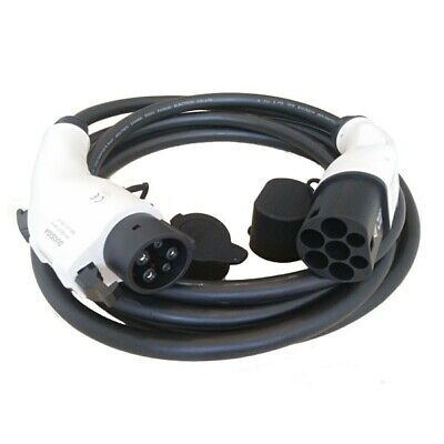 Type 1 to Type 2 EV charging cable. 32A, 5M cable with bag