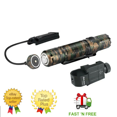 Olight M2R PRO Warrior Tactical Light Bundle with Mount + Magnetic remote, Camo