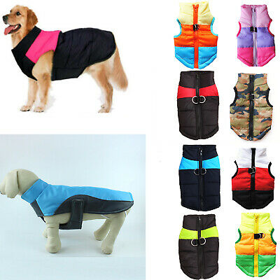 Cute Pet Dog Vest Jacket Warm Waterproof Clothes Small/Large Winter Padded Coats