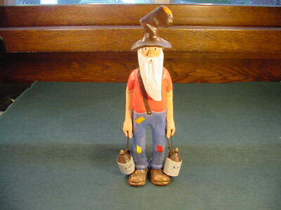 1940's Hand Carved Folk Art Hillbilly Moonshine Figure Old George Big Sandy Tenn