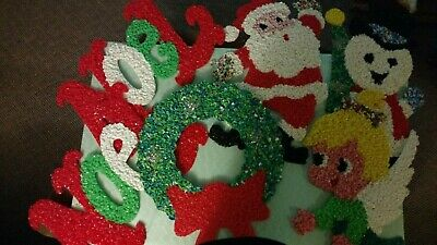 Lot of 6 Vintage Melted Plastic Popcorn Decorations Christmas