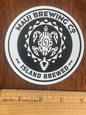 MAUI BREWING Co COMPANY BEER ALE TURTLE DESIGN STICKER Decal Hawaii NEW!