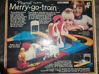 PLAYRAIL MERRY-GO-TRAIN Tomy TOY Parker Brothers