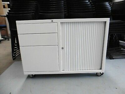 Office White Sliding Door Cabinet On Wheels With Drawers Brisbane