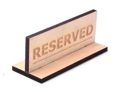 Freestanding Wooden Double Sided Reserved Table Sign For Restaurants