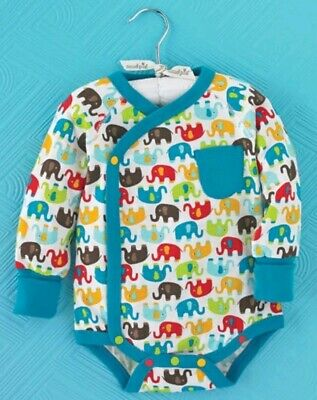 Size 0-3 Months NWT Mud Pie Elephant Print Layette Crawler /& Matching Blanket