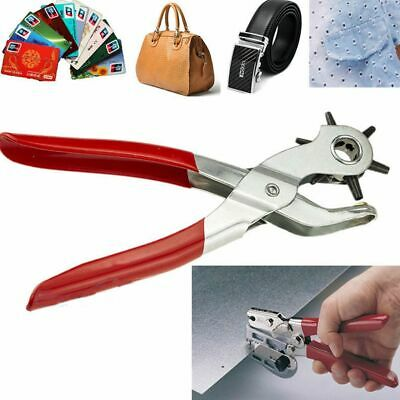 9'' Revolving  Plier Round Hole Puncher For Watchband/Card/Leather Belt