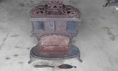 rare old vintage collectable railway stove wood heater burner the crown 7 iron