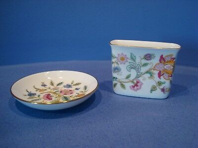 Minton Haddon Hall, Gold Trim, Pin Dish And Toothpick Holder