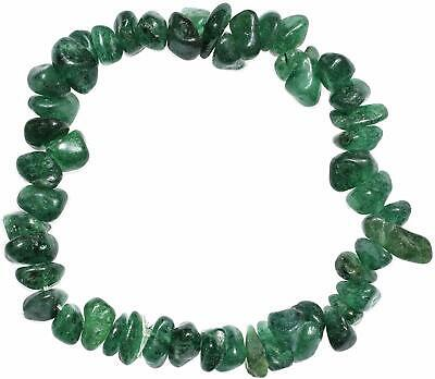 CHARGED Green Aventurine Crystal Bracelet Tumble Polished Stretchy  (Chip Bead)