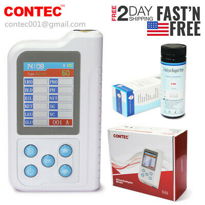 US FedEx 2 Days Urine Analyzer BC401 11 Parameters 100pcs Test Strips Chargeable