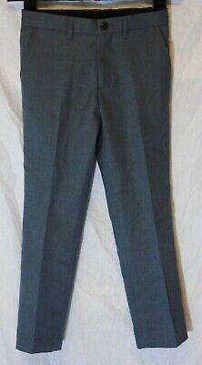 Boys Matalan Grey Adjustable Waist Pleat Front Formal Suit Trousers Age 7 Years