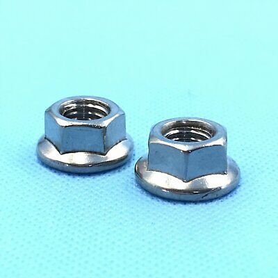 12Pcs Stainless Steel Flange Hex Nut Right Hand Thread M5 x 0.8 [DORL_A]