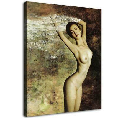 "16""x18""Naked Woman HD Canvas print Painting Home Decor Picture Room Wall art"