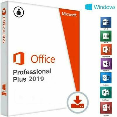 Microsoft Office 2019 Professional Plus - 32/64 Bit - GENUINE ESD MULTILANGUAGE