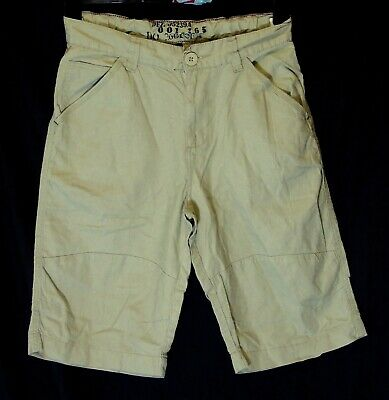 Boys Next Beige Adjustable Waist Linen Blend Long Board Shorts Age 13 Years