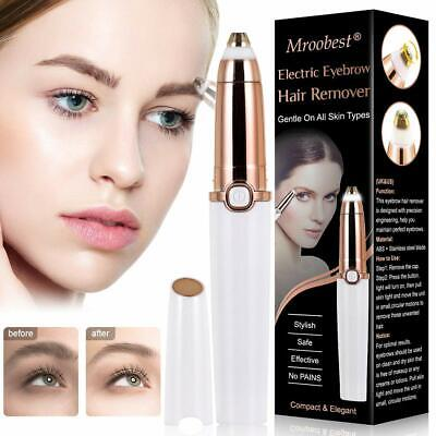 Mroobest Eyebrow Trimmer / Hair Removal Razor with Light - White