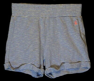 Girls Joules Blue White Stripe Soft Feel Jersey Cotton Shorts Age 7-8 Years