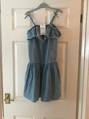 Brand New With Tags Girls Denim Dress Age 10-11 Marks And Spencers