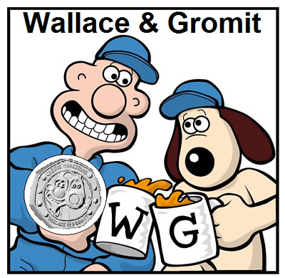 2019 50p COIN WALLACE AND GROMIT 30TH ANNIVERSARY (NEW COIN IN HAND)