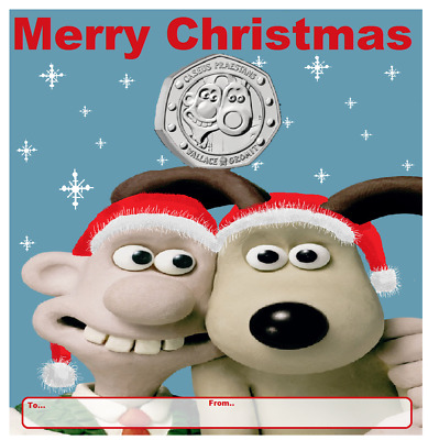 2019 50p COIN WALLACE AND GROMIT 30TH ANNIVERSARY XMAS CARD NEW