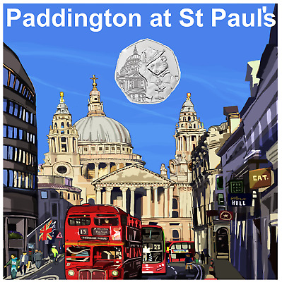 2019 UK Paddington at St. Paul's Cathedral uncirculated 50p from a sealed bag.