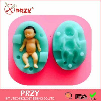 VERY TINY 3D Baby Silicone Mold Fondant Silicon Mold Cake Decoration Mold