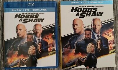 Fast & Furious Presents Hobbs & Shaw (Blu-ray and DVD, 2019) - No Digital