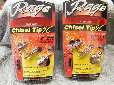 "Rage Chisel Tip SC 1.6""+ Cut 100gr ( lot of 2 )"