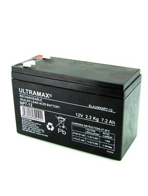 2 X ultra max 12V 7AH AGM/Gel Rechargeable Pile Mobilité Medicare/Travellease