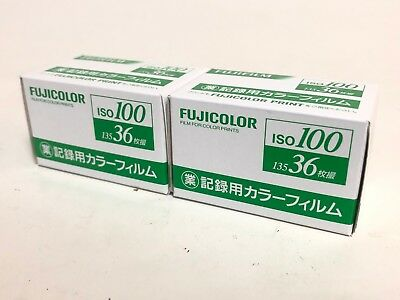 <NEW 2ROLL> FujiFilm Fujicolor Industrial film ISO100 135-36 exp 35mm from Japan