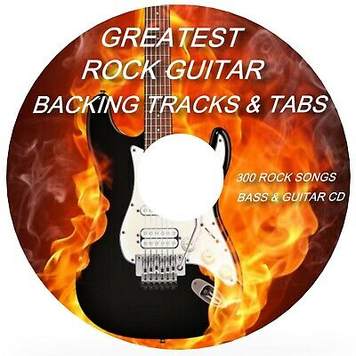 300 Rock Songs Bass & Guitar Tab Cd + Tablature Song Book Best Of Greatest Hits