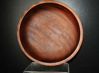 "Large wooden bowl marked  ""hand turned Sapele Mahogany Galtix made in England"""